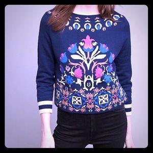 Anthropologie monogram sweater